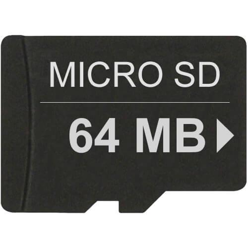 64mb microsd secure digital transflash card. Black Bedroom Furniture Sets. Home Design Ideas