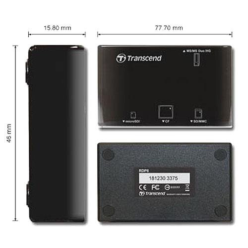 Transcend Multi SDHC SDXC microSDHC MS M2 CF external fla...