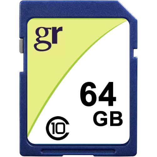 Gigaram 64GB SDXC Secure Digital Card r18MB/s w10MB/s Cla...