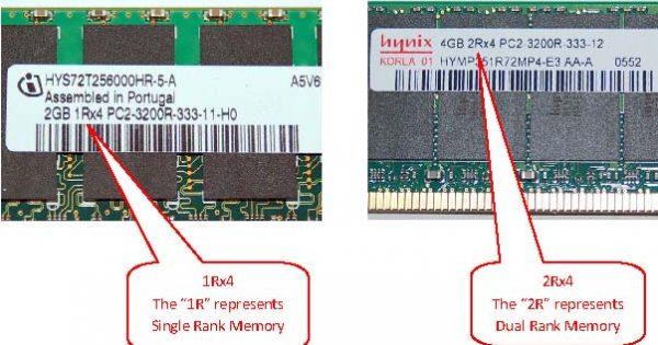 Single Rank Memory vs  Dual Rank Memory - OEMPCWorld
